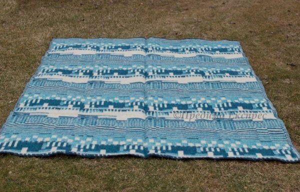 Вълнено одеяло Пиано,синьо