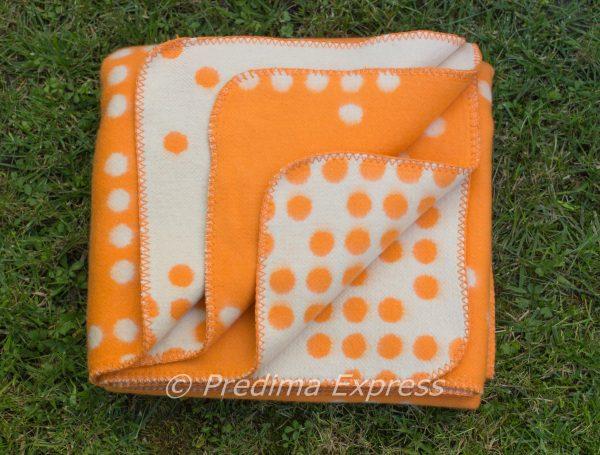 Памучно одеяло Точки, оранж