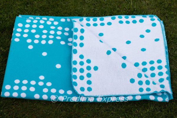 Одеяло Точки, синьо